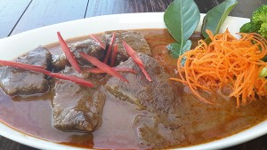 Beef cheek panang